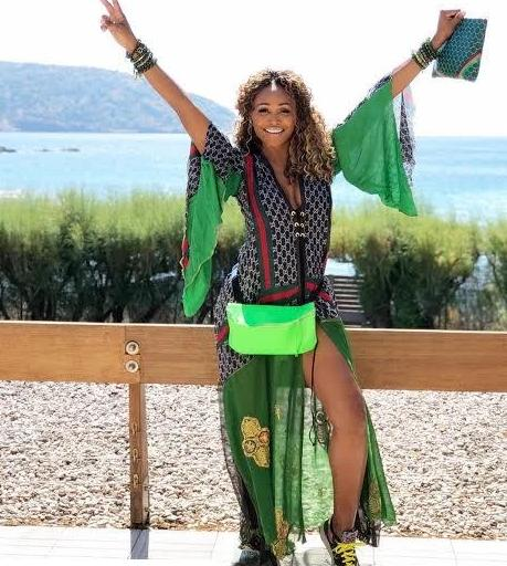 CB Vior Neon Green Leather Fanny Pack as Worn by Cynthia Bailey