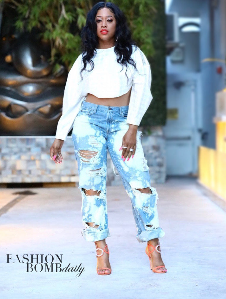LTD Creations Distressed Jeans As Worn by Trina