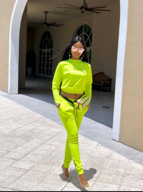 Madam Mystique Neon Jogger Set