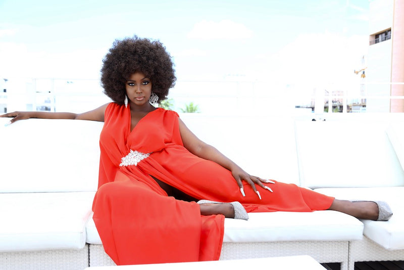 Red Kaftan by Ela As Worn by Amara la Negra