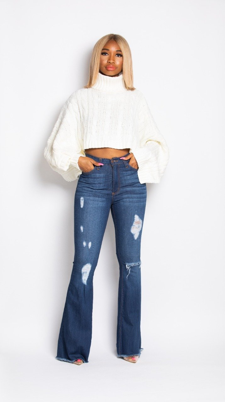Madam Mystique Ama Flared Denim Jeans