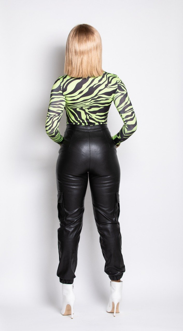 Madam Mystique Black Leather Jogging Pants