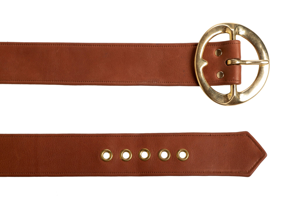 Pre-Order Sergio Hudson Signature Brown Leather Belt