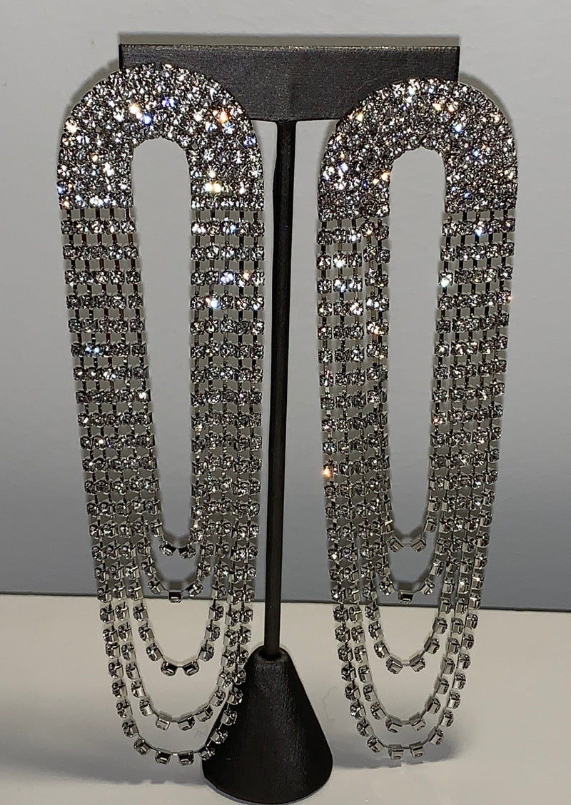Fashion Bomb Daily x McKenzie Liautaud Diva Drop Crystal Earrings