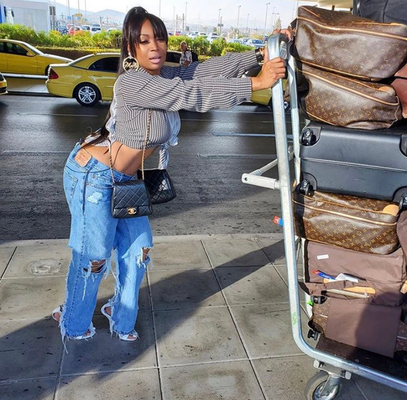 LTD Creations Distressed Jeans As Worn by Marlo Hampton