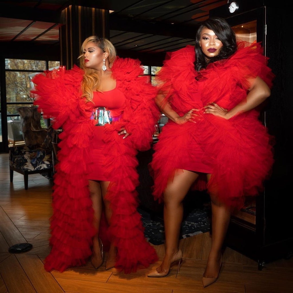 Oyemwen Red Tulle Jacket