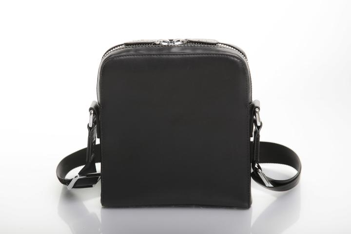 CB Vior Power Unisex Black Leather Messenger Bag as Worn by Cynthia Bailey