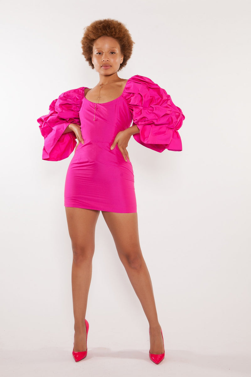 Sai Sankoh Isabella Hot Pink Mini Dress