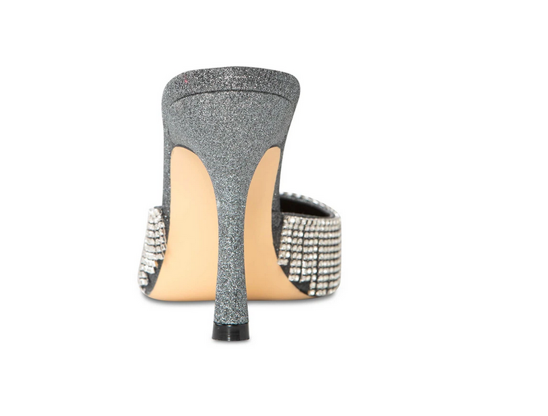 Cult of Coquette Catherine Vegan Pewter Silver Mules (As Worn by The Clermont Twins)