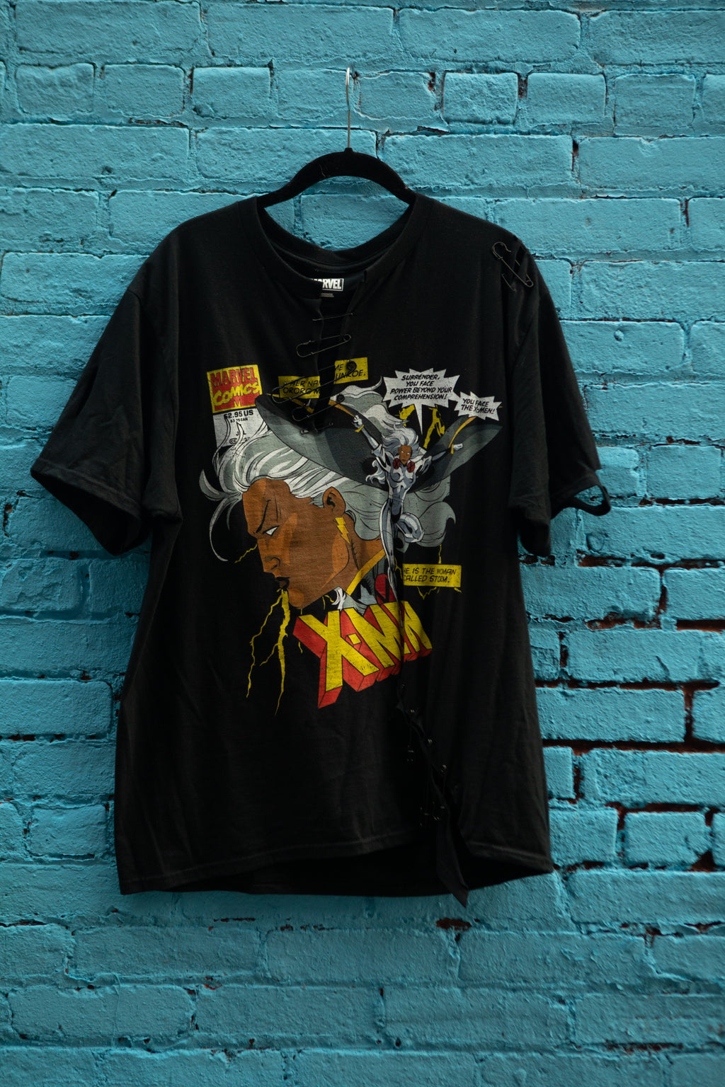 Storm Pinned Up T-Shirt in Black
