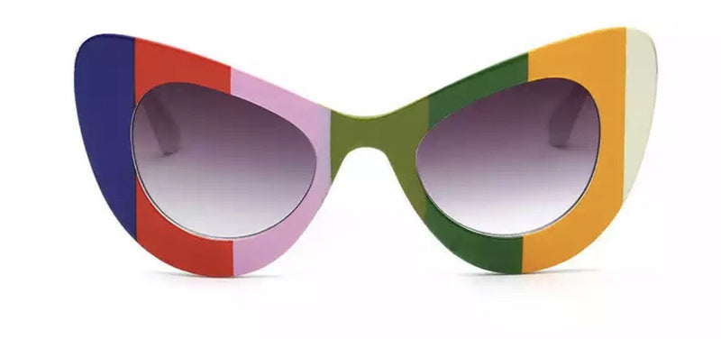 Nroda All My Stripes Rainbow Multicolor Sunglasses