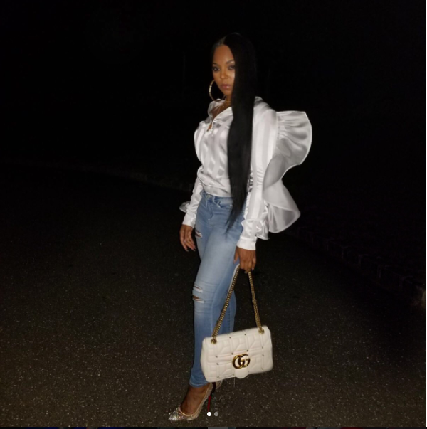Arianne Elmy Oversized White Ruffle Top As Worn by Ashanti and Angela Simmons
