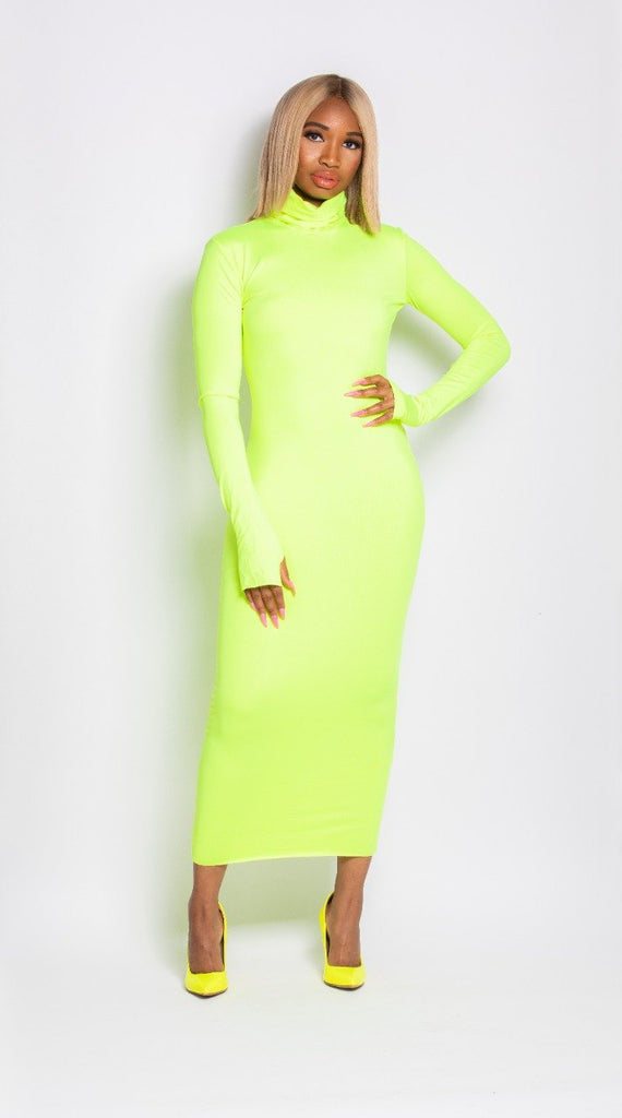 Madam Mystique Neon Bodycon Dress