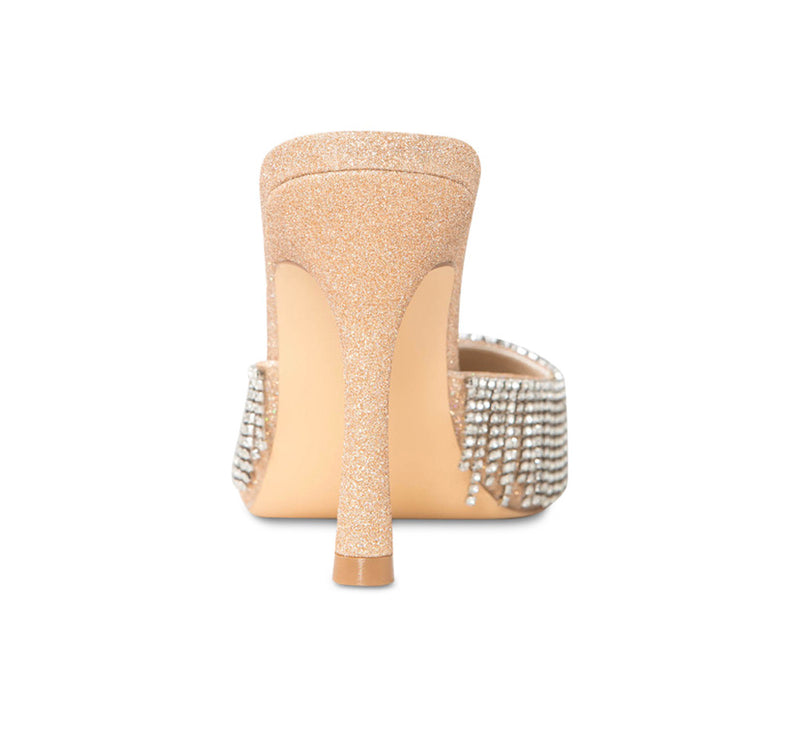 Cult of Coquette Catherine Vegan Champagne Gold Mules (As Worn by Ashanti)