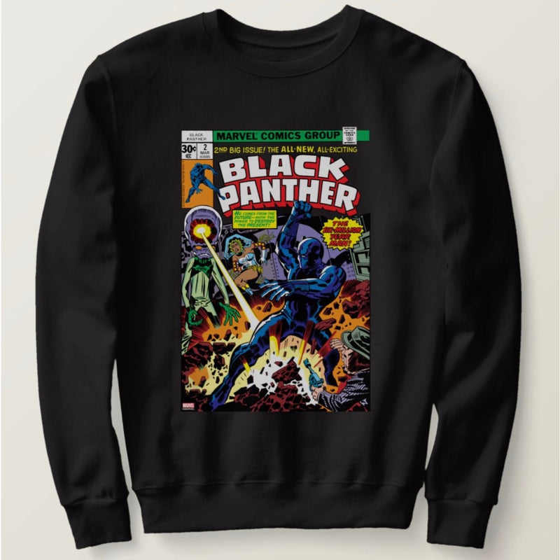 Black Panther Black Sweatshirt Men's