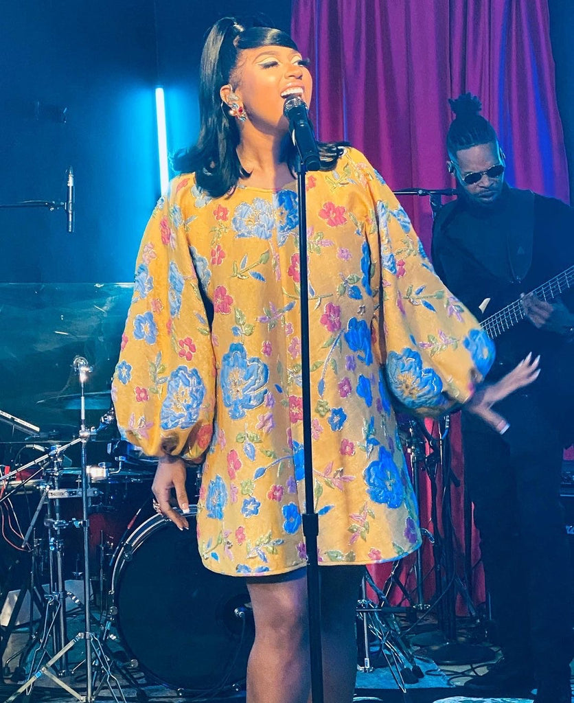 PRE-ORDER Arianne Elmy Floral Party Dress (as worn by Brandy and Jazmine Sullivan)