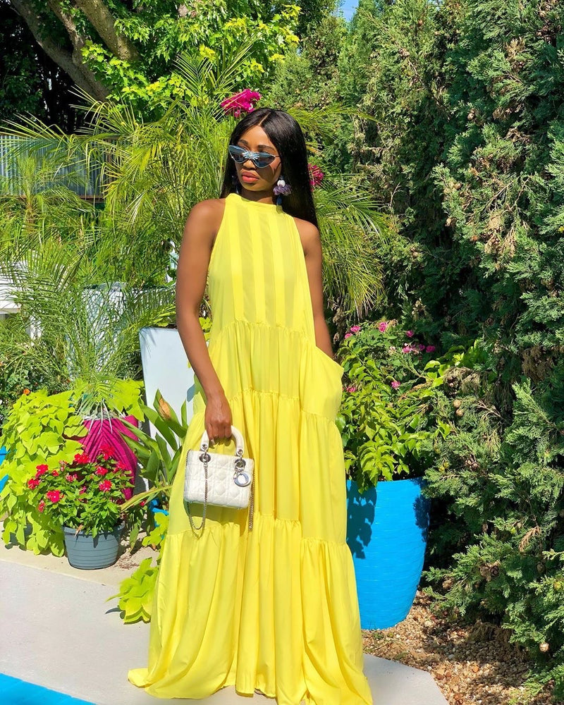 Pre-order Madam Mystique Yellow Maxi Dress