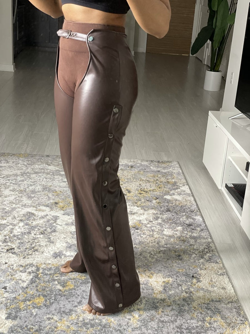 Oyemwen Vegan Leather Brown Chaps
