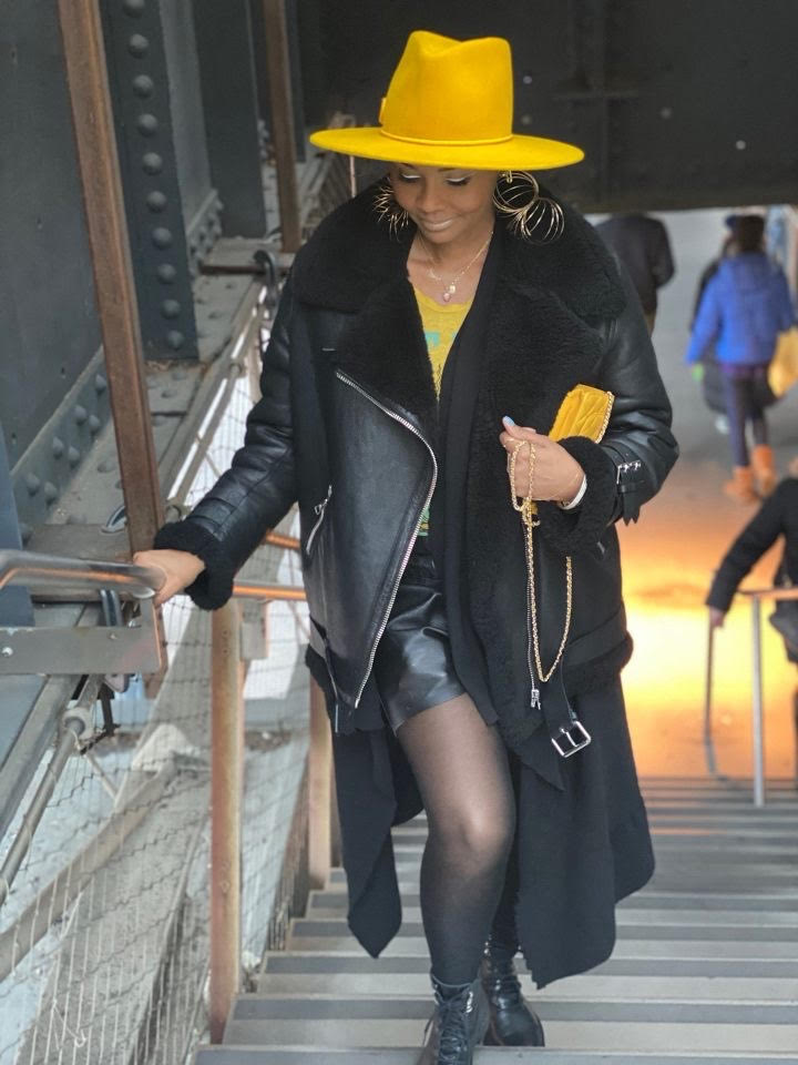 Fashion Bomb Daily x Frances Grey Canary Yellow Fedora Angie Hat