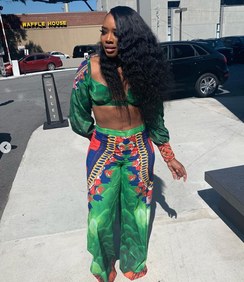 Sai Sankoh Carlita Printed Pants As Worn by Yandy Smith