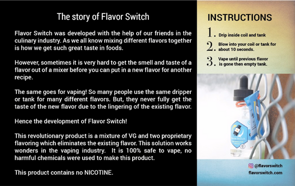 FlavorSwitch Coil Cleaner