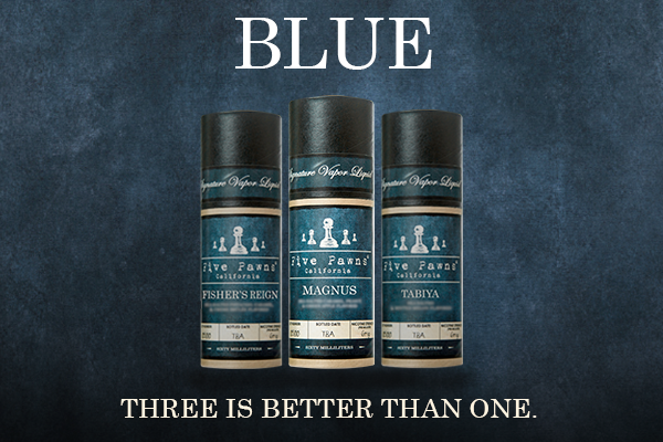 Five Pawns Blue Line of Sea Salt Infused eJuices