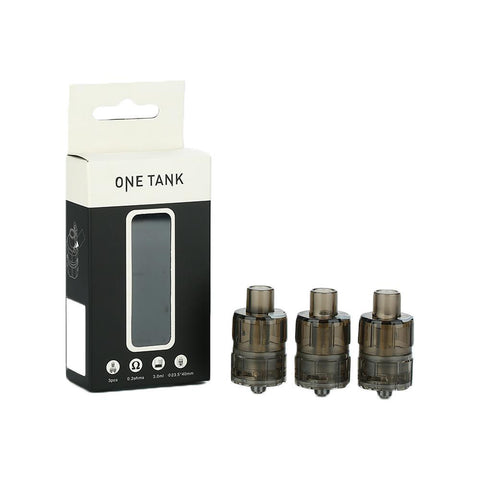 Teslacigs ONE Disposable Sub-Ohm Tank (3 Pack) Black eJuice Accessories