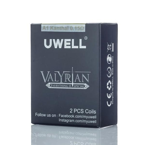 Uwell eJuice Accessories Uwell Valyrian Tank Replacement Coils (0.15ohm - 2 Pack)