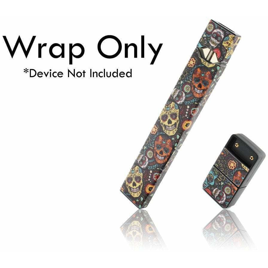 VCG Custom JUUL Wraps Sugar Skulls eJuice Accessories