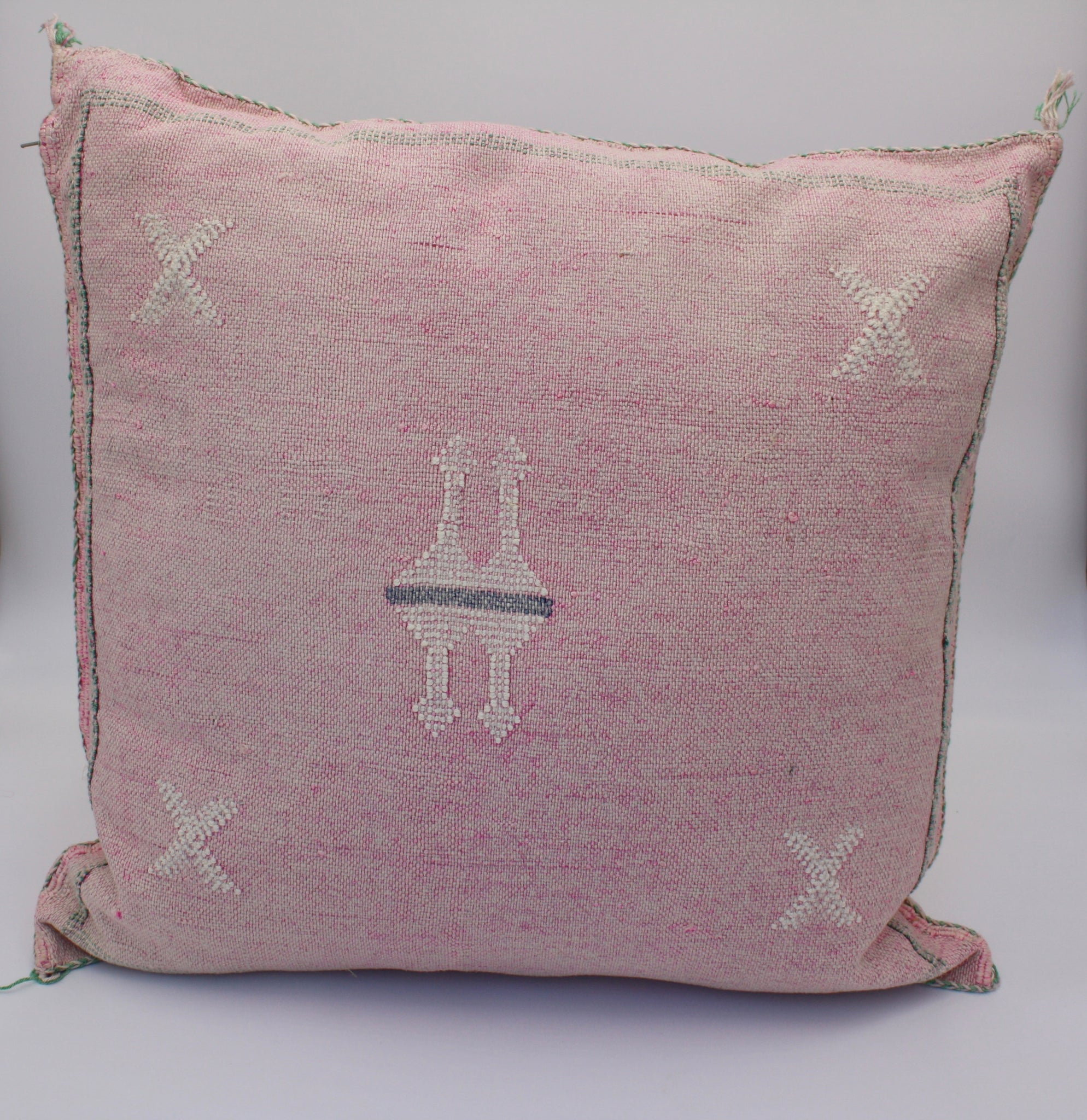 Cactus Silk Pillow - Faded Pink