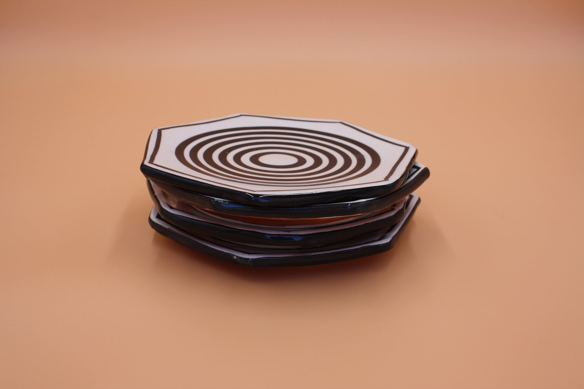 Black Stripes Octogonal Catchall - 2