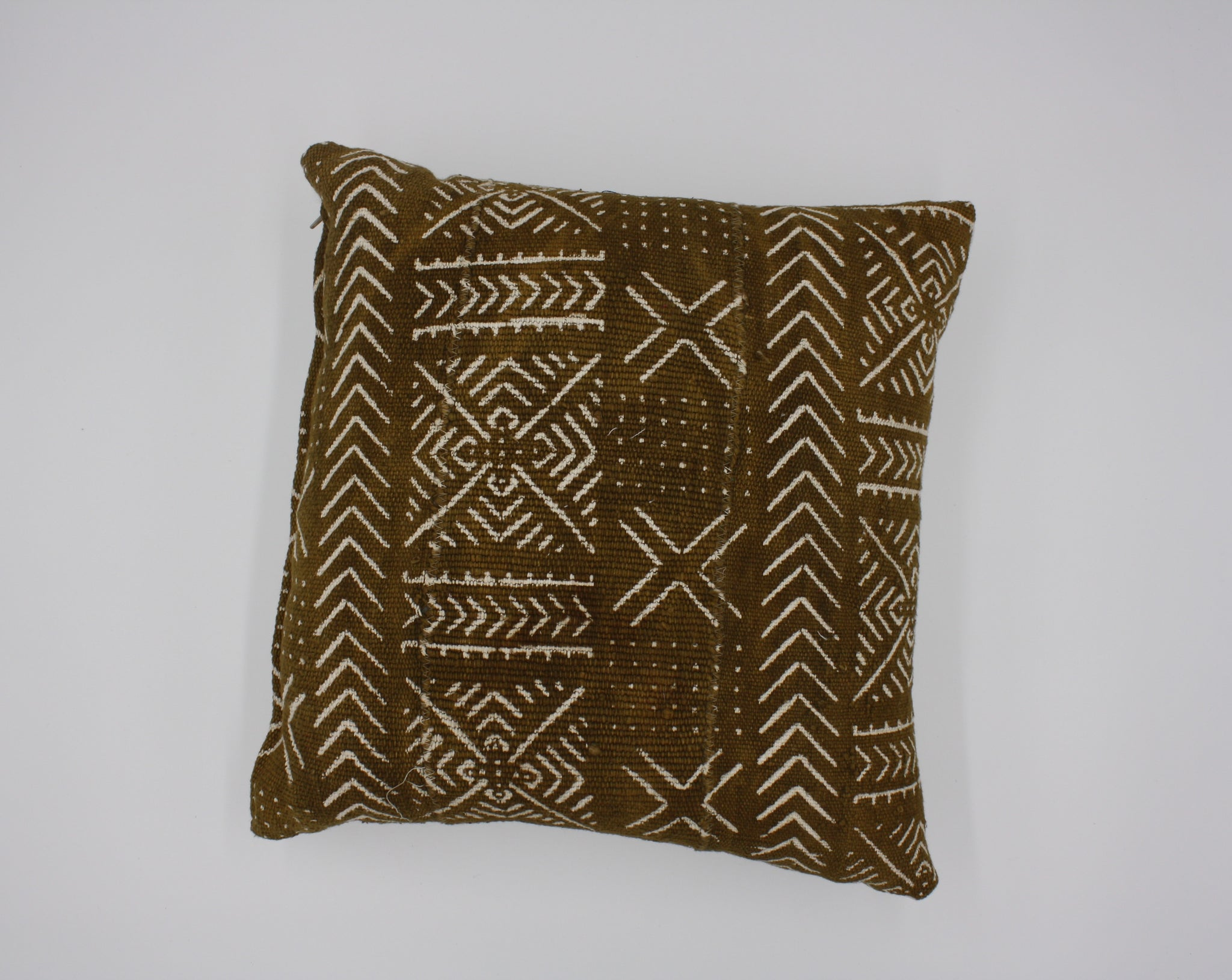Mali Mud Cloth Pillow - Rust