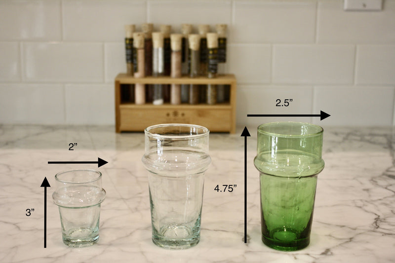 Green Beldi Water Glass