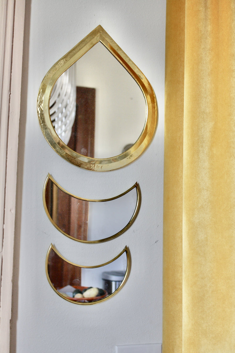 Handmade Tear Drop Brass Mirror