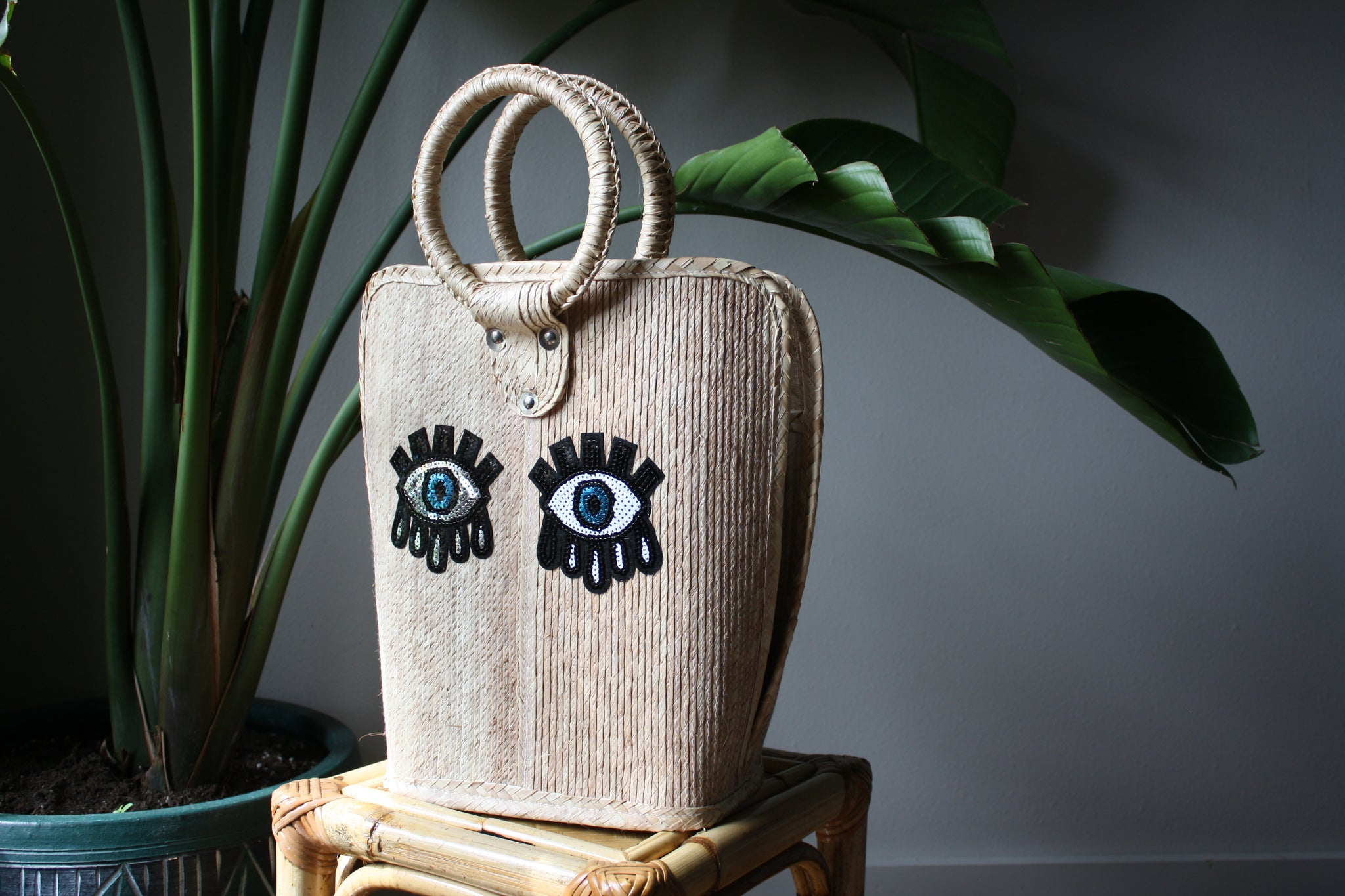 Small Evil Eye Sequins Palm Bag