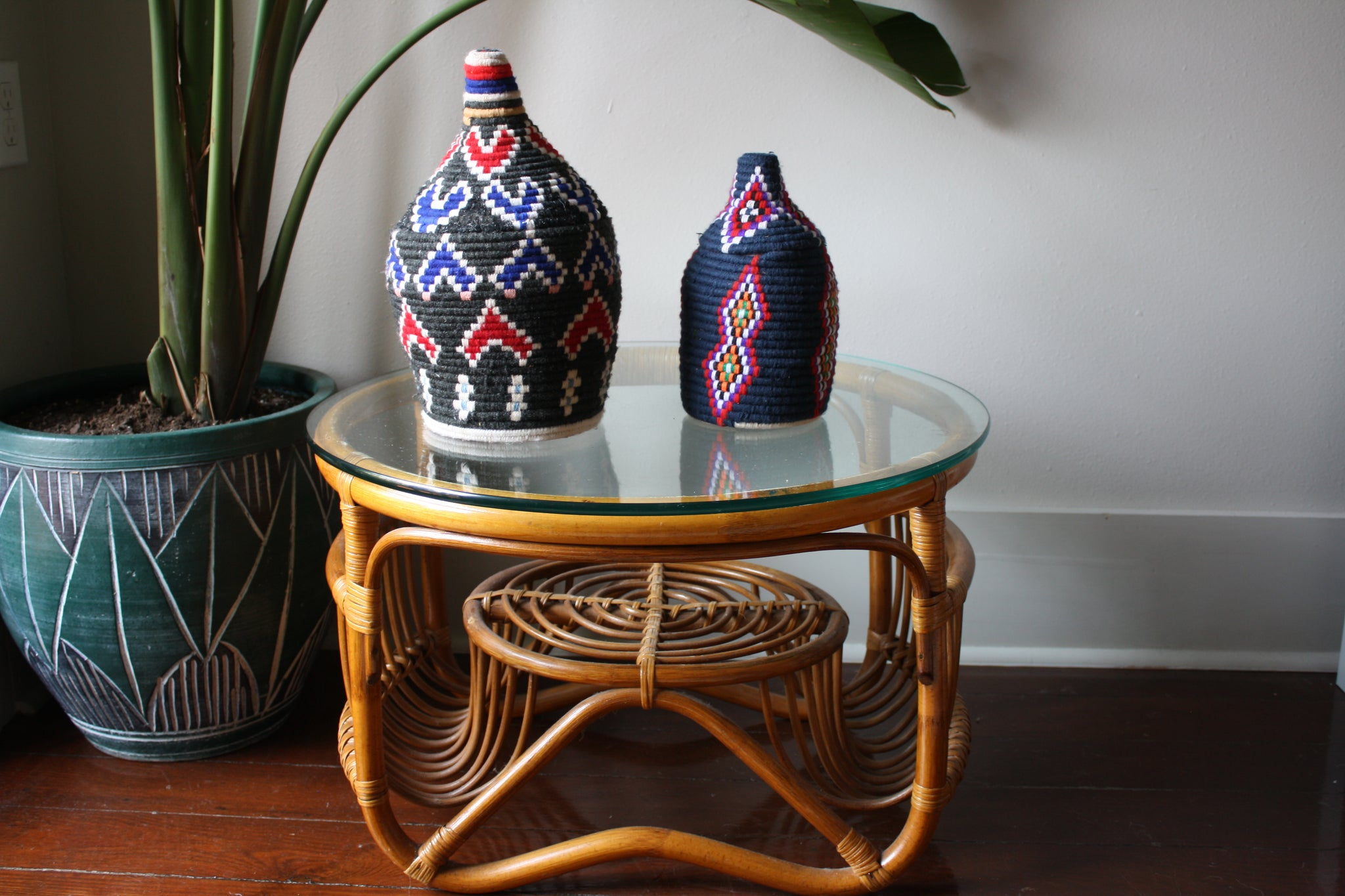 Set of 2 Moroccan baskets