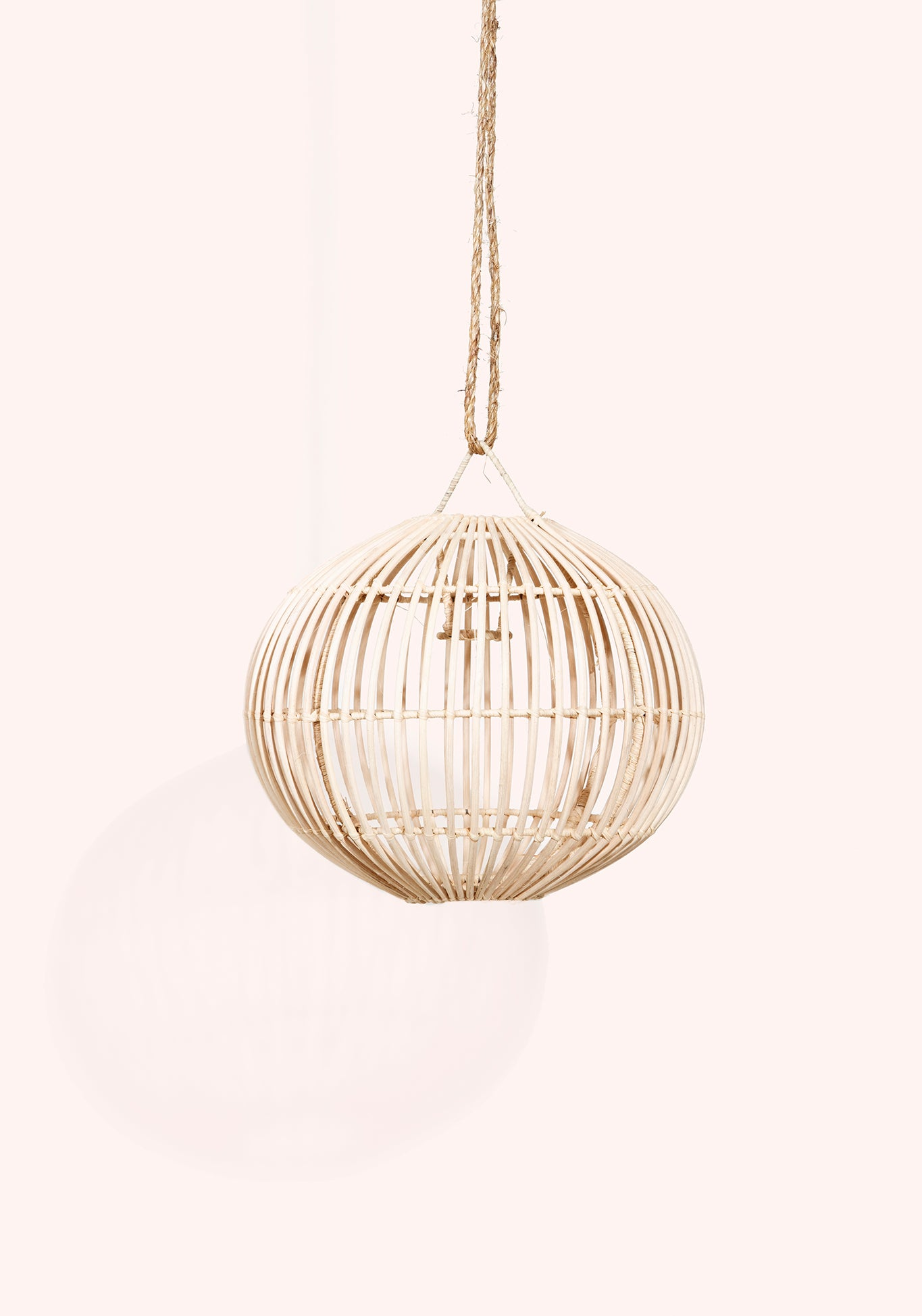 Rattan Light Pendant - Small 12'