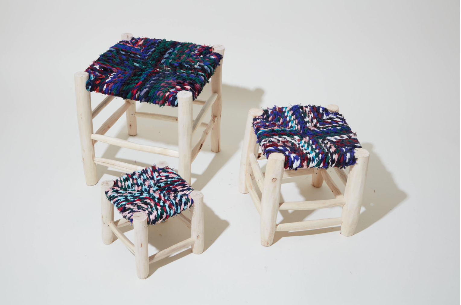 Nesting Colorful Stools - 3