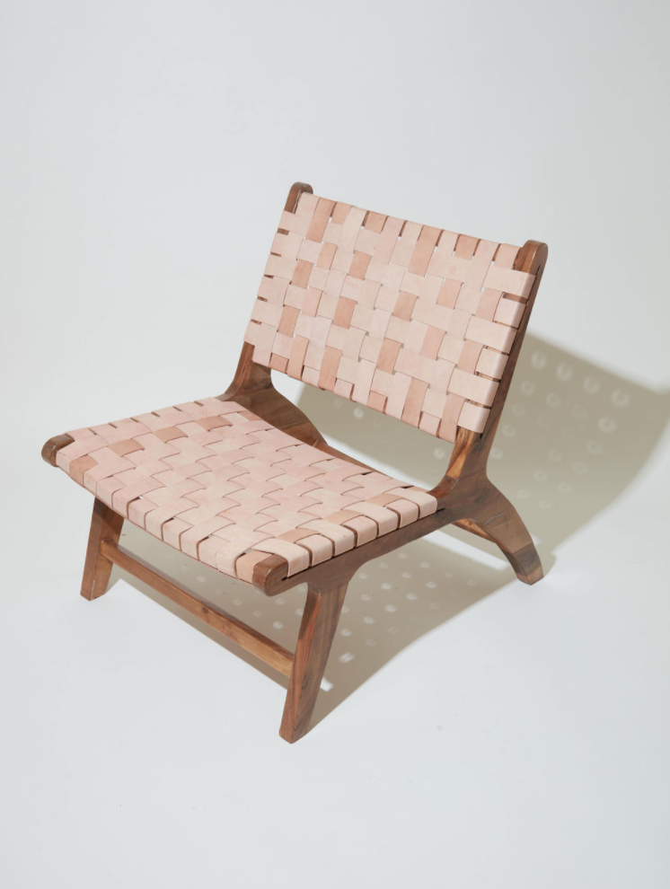 Walnut Wood Leather Chair