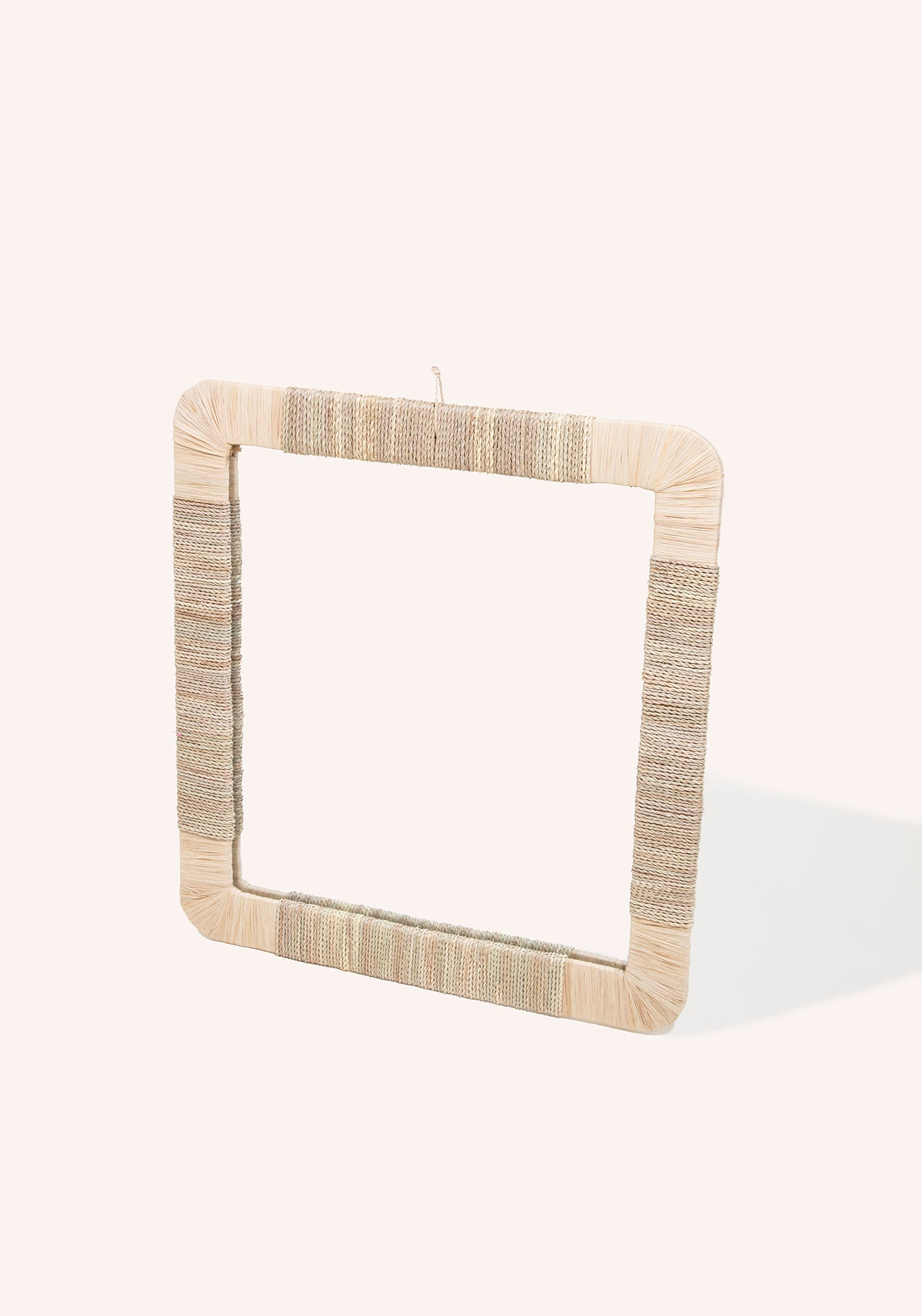Rectangle Rope & Raffia Mirror