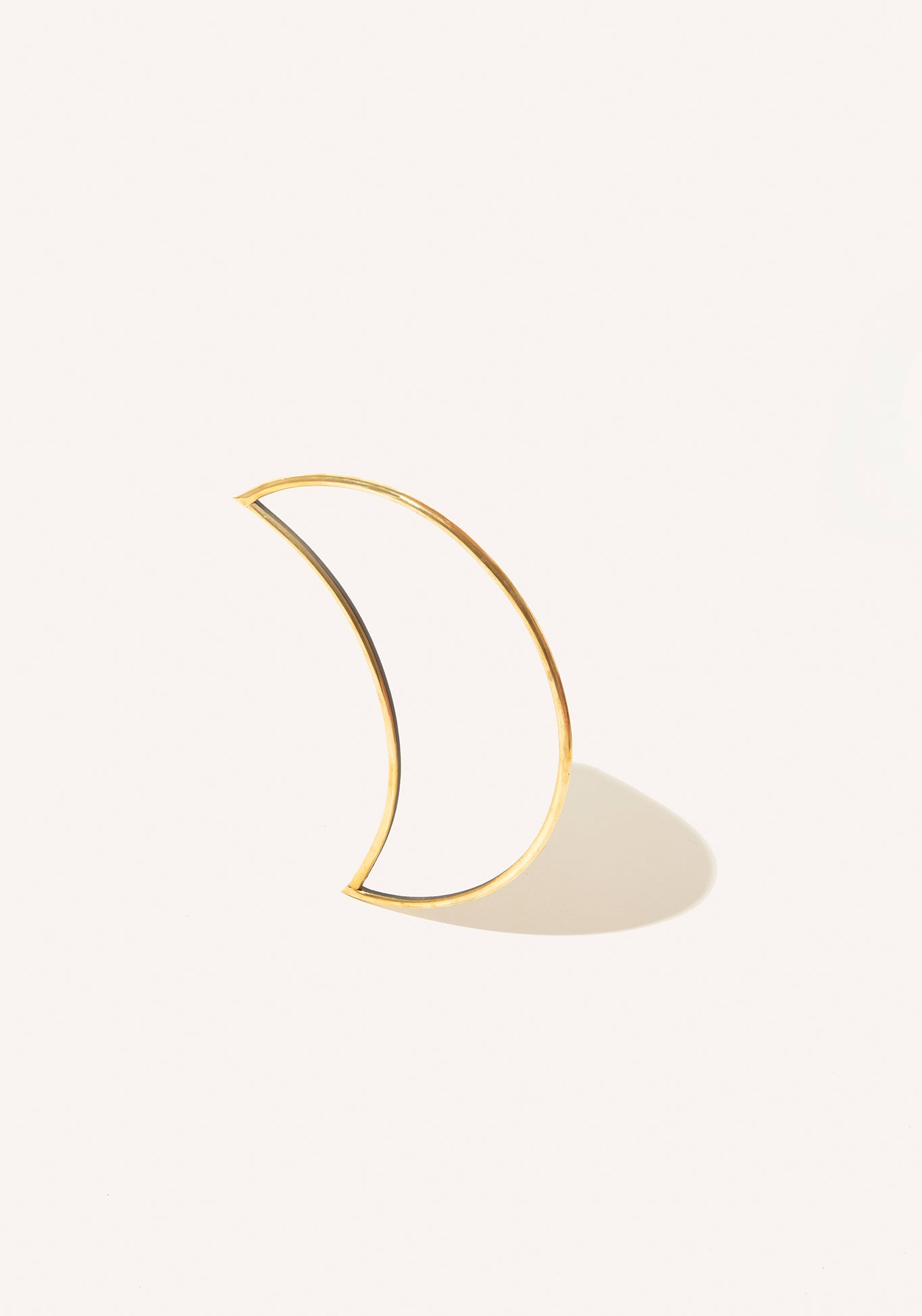 Crescent Moon Brass Mirror