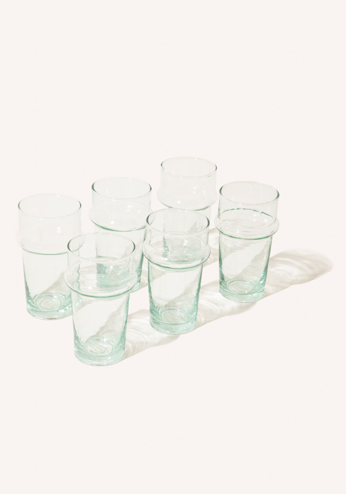 Crystal Blue Water Glasses - 6
