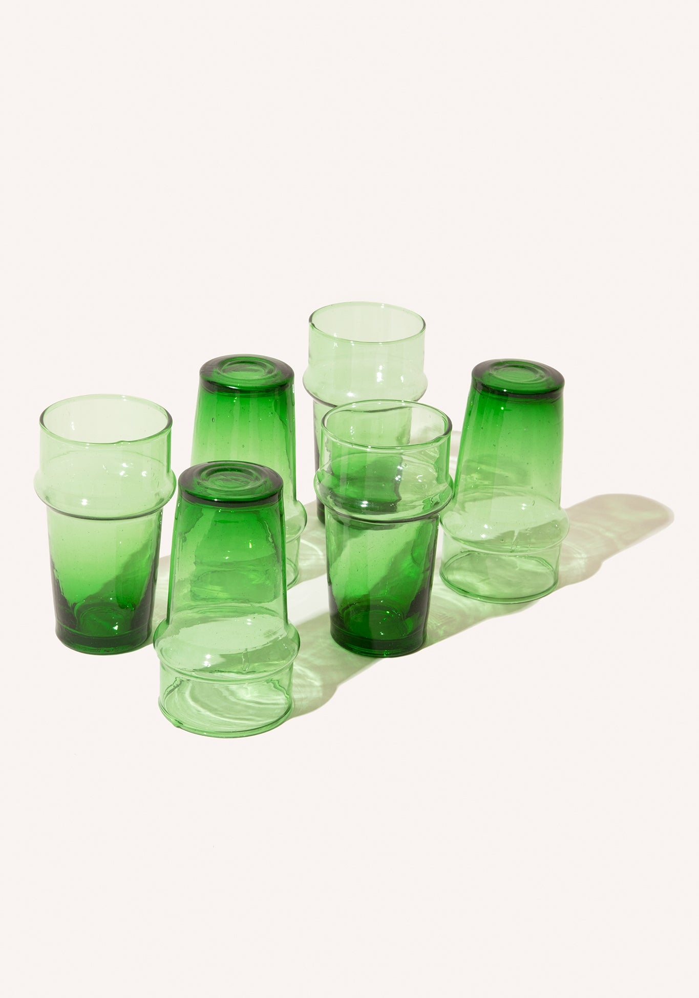 Palm Green Water Glasses - 6