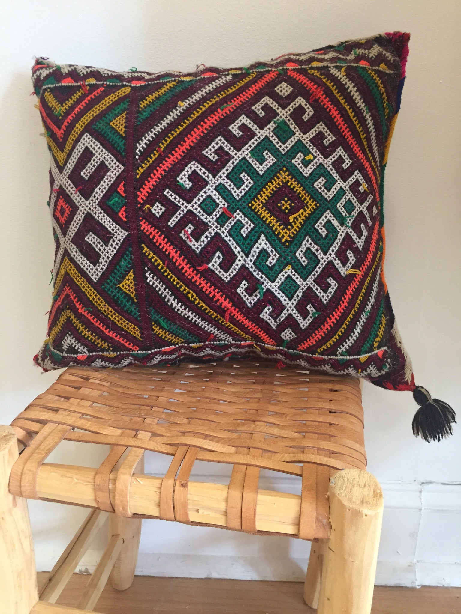 Vintage Moroccan Rug Pillow