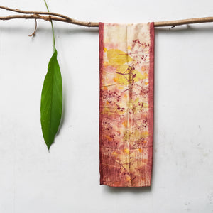 UMA Bundle-Dyed Petite Silk Scarf - Florescence
