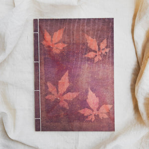 Ecoprinted Journal | Magenta Vine