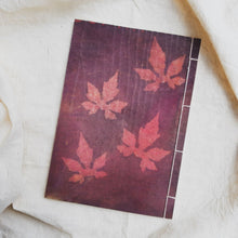 Load image into Gallery viewer, Ecoprinted Journal | Magenta Vine