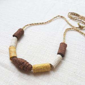 Simply Barkcloth-Beaded Necklace