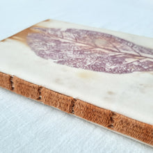 Load image into Gallery viewer, Ecoprinted Woven-Stitched Book | Earth Tectona