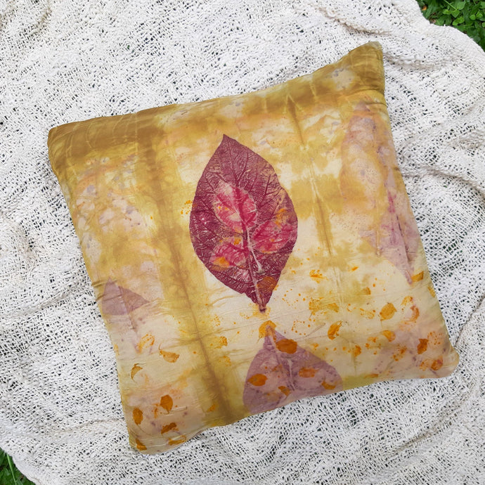 HAVEN | Plant-Dyed Cushion Cover - Habutai Silk